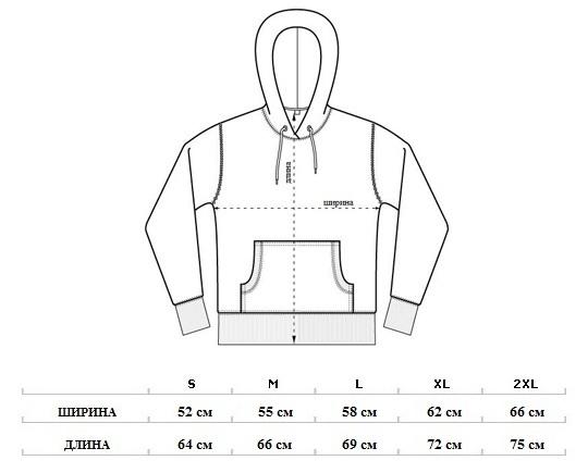 Размеры мужских балахонов
