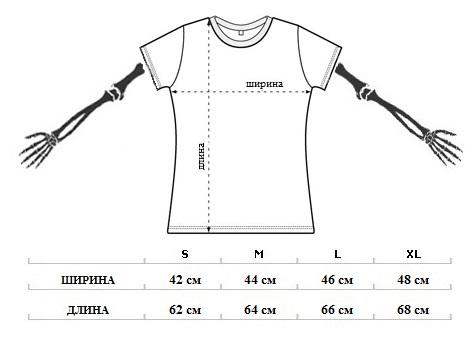 Размеры женских футболок